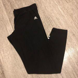 Adidas Black legging sweatpants inseam 27 inches